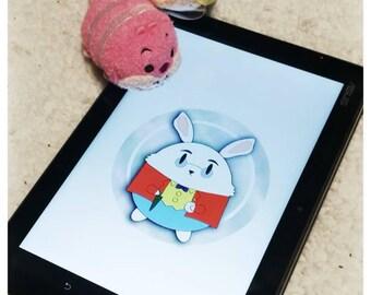 Alice in Wonderland - White rabbit stickers