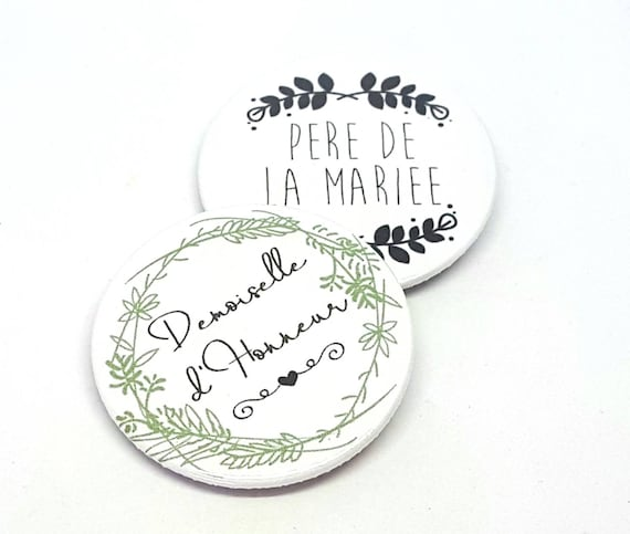 Badge Mariage Evjf Badge Texte Personnalisable Badge Couronne