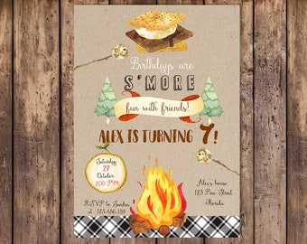 campfire invitation etsy
