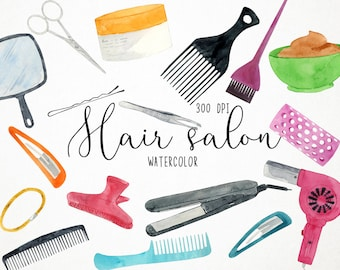 Hair Salon Art Etsy