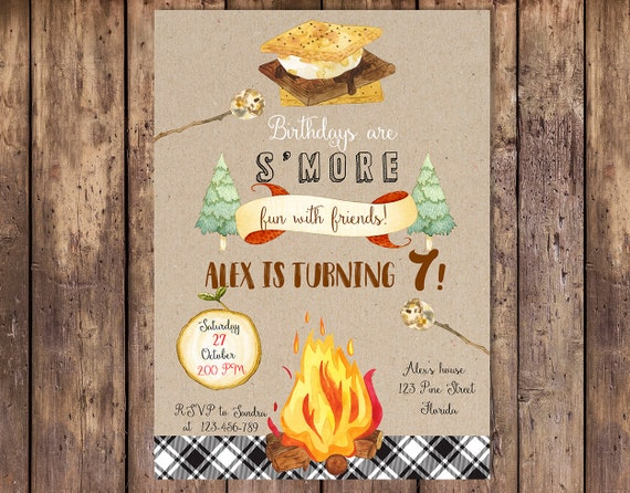 Smore Birthday Invitation