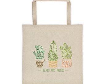 Plants Are Friends Cactus Tote bag