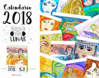 Illustrated calendar 2018