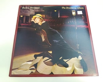 Barbra Streisand - The Broadway Album - VG++ Original Press Columbia 40092 Record & Insert Sheet 1985 - Play Tested