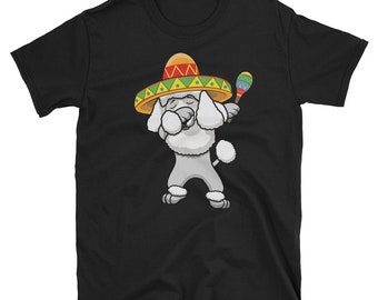 Dabbing Poodle Dog in Sombrero - Cinco De Mayo Mexican Fiesta - Dab Dance - Mexico Party  T-Shirt
