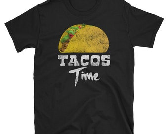 Tacos Time Sombrero Distressed - Cinco De Mayo Mexican Fiesta - No Siesta - Mexico Party  T-Shirt