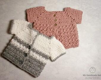 Baby Sweater Knitting Pattern Cardigan Knitting Pattern Baby Etsy