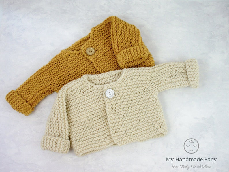 7ad4a76bb1152c Baby Sweater Knitting Pattern Cardigan Knitting Pattern Baby