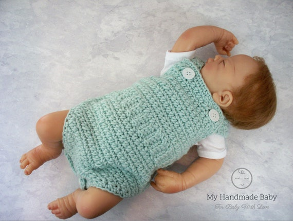 Baby Romper Crochet Pattern Baby Overalls Playsuit Baby Etsy