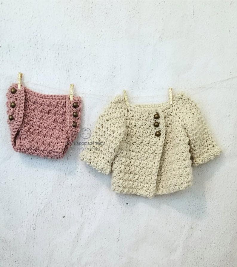 Baby Crochet Pattern Baby Sweater Crochet Pattern Baby Jacket Crochet Pattern Baby Cardigan Crochet Pattern The Tate