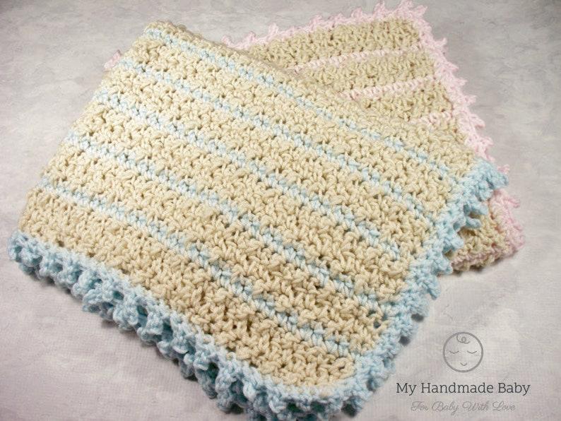 Baby Afghan Easy Crochet Pattern Baby Blanket Crochet Pattern Etsy