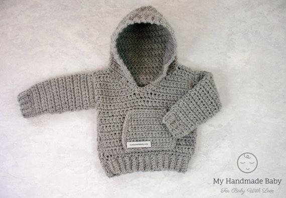 Baby Hoodie Crochet Pattern Sweater Crochet Pattern Baby Etsy