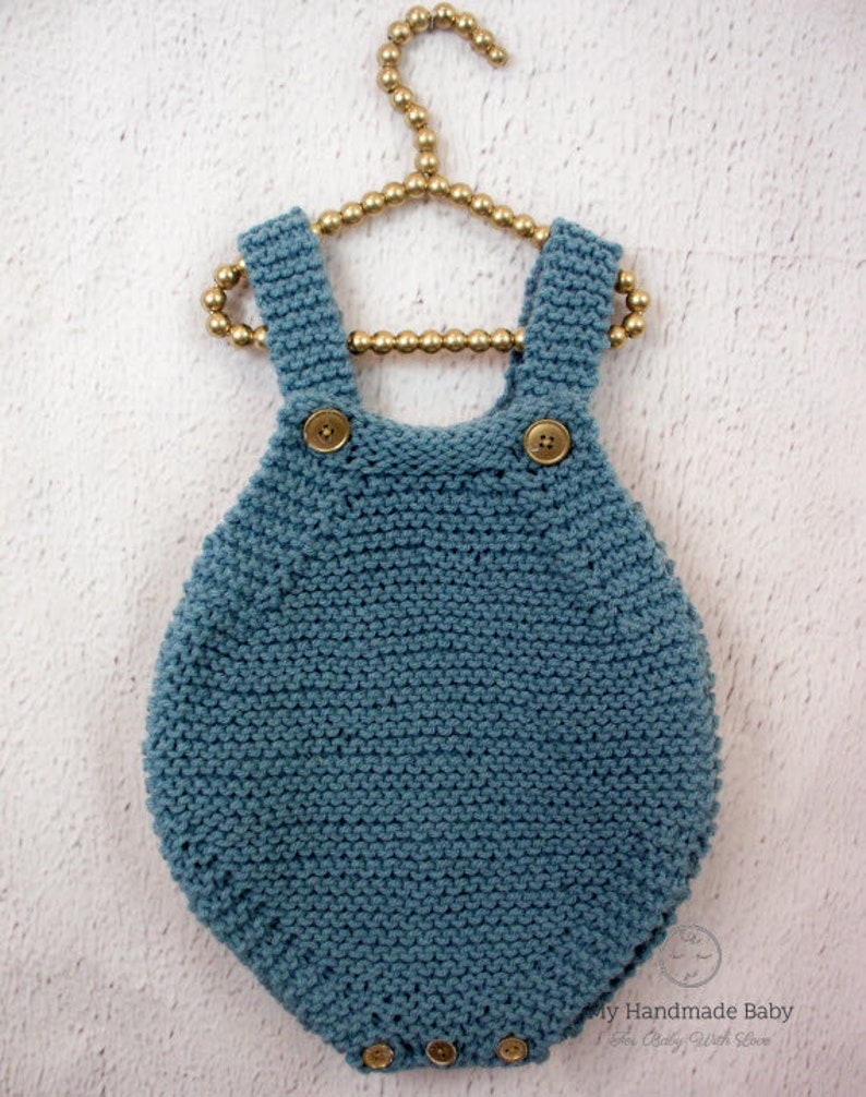 cb9af0e58 Baby Romper Knitting Pattern Baby Overalls Playsuit Baby