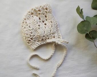 Norah Cream Bonnet
