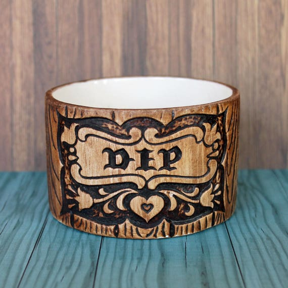 Vintage Treasure Craft Dip Bowl Or Condiment Dish Faux Wood Etsy