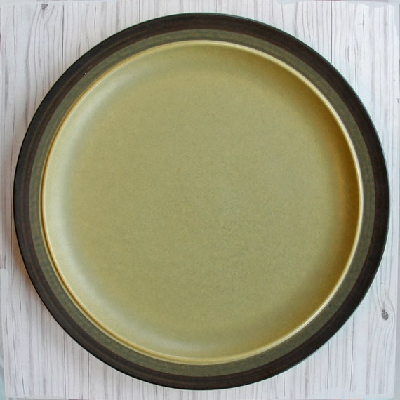 Vintage Arrowstone APACHE GOLD Dinner Plate Individual or Set of 4 Mid Century Banded Kasuga Stoneware Modern