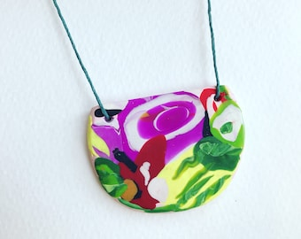 Wearable art pendant