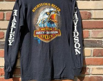 bfe300c1 Vintage Bail Bond T-Shirt size M Harley Davidson Eagle   Etsy