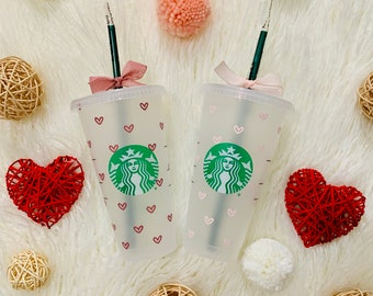 Heart Personalized Starbucks Cup, Personalized Gift, Customizable, Gift for mom, Gift for her