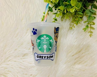 Paw Patrol Grande Starbucks Cup, Grande Starbucks Cup, Personalized Starbucks Cup, Gift for Child