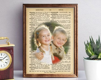 Personalized Photo on Vintage Dictionary Page, Perfect Gift for any Parent or Grandparent