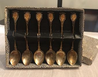 Vintage Bronze Teaspoons, Vintage Stirring Spoons, Old Coffee and Tea Collectors