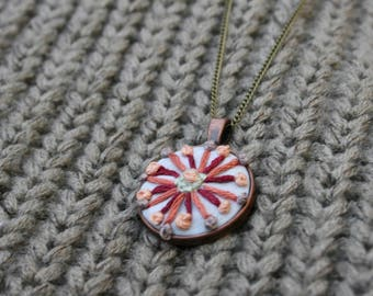 Flower Embroidered Necklace