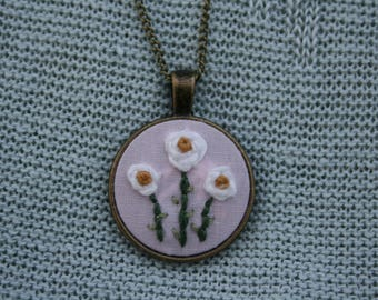 Floral Embroidered Necklace