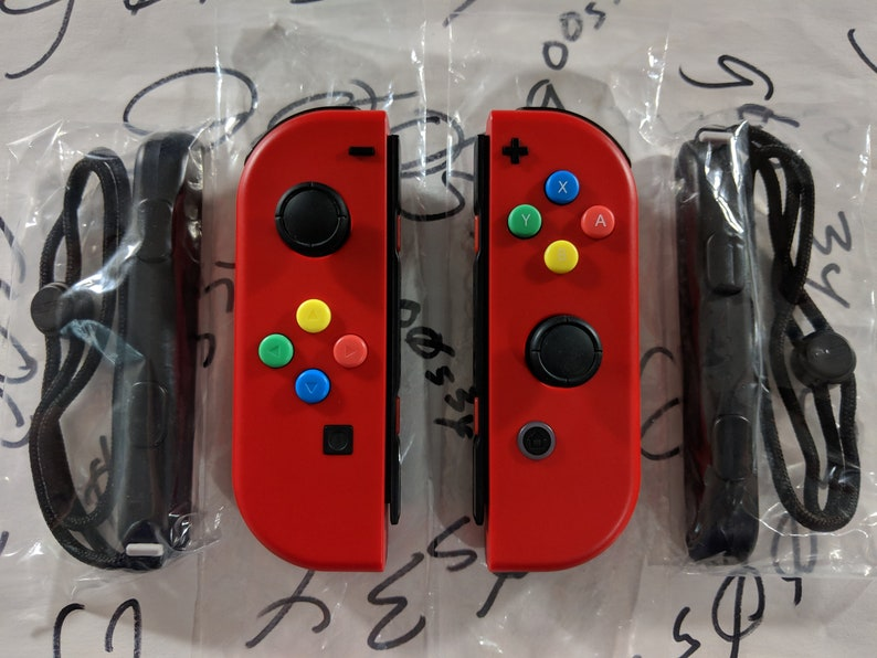 0383e4445c908f New Nintendo Switch Genuine Mario Odyssey Red Joy Con