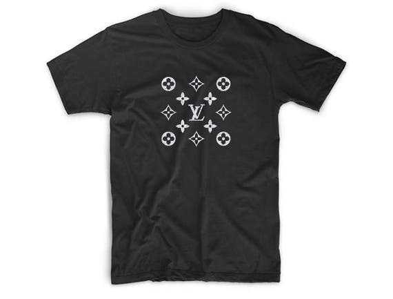 Louis Vuitton Inspired Shirt Lv Symbols Glitter T Shirt