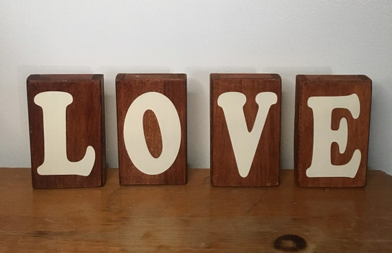 Love Sign Wooden Signs Valentines Day Gift Ideas Gifts Etsy