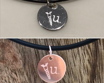 4ded7fbf6618 Screw U charm necklace - aluminum or rose gold filled