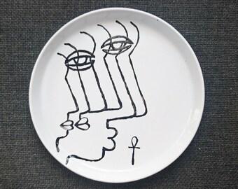 """Alexandria"" stoneware plate"