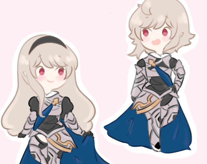"PRE ORDER Fire Emblem Fates 2.5"" Corrin/Kamui Clear Epoxy Acrylic Charms"