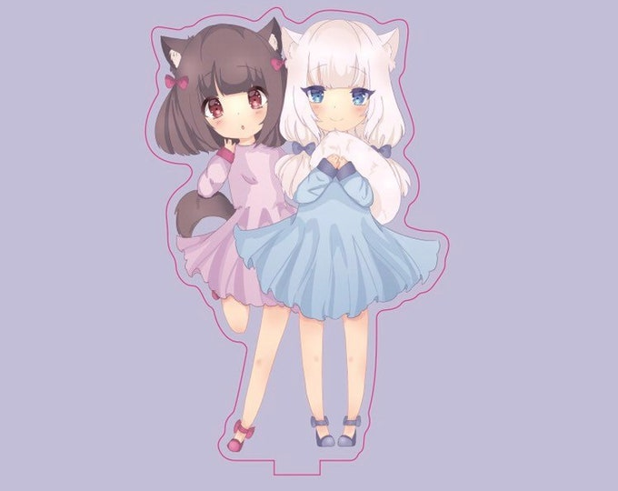 "Nekopara Chocola and Vanilla 4"" Double Sided Acrylic Stand"