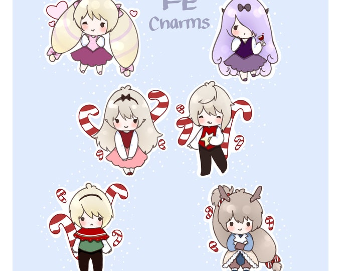 "Fire Emblem Fates Christmas Theme 2"" Acrylic Charms"