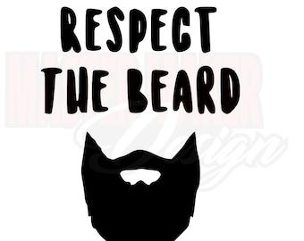 Respect the beard decal sticker Laptop Car Truck woods bearded villain man hair respect elder mustache ride label growth natural