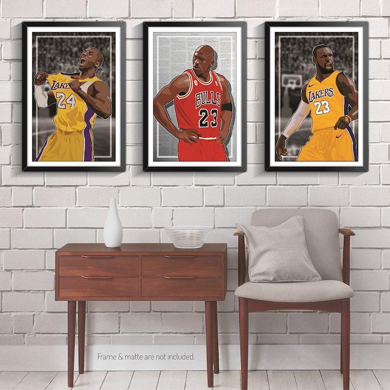 f2797139fa4c 3 Posters of NBA G.O.A.T. Michael Jordan Kobe Bryant