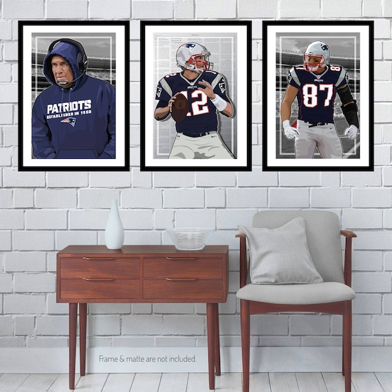 3 Posters of NFL New England Patriots Tom Brady Rob | Etsy
