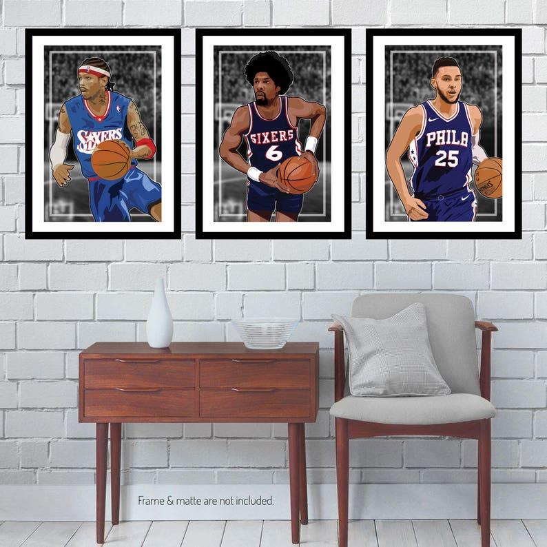 24713e5a8 3 Posters of Philadelphia 76ers Allen Iverson Ben Simmons
