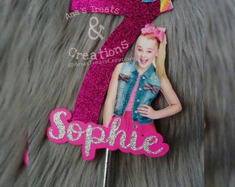 JoJo Siwa Birthday Cake Topper Personalised Edible Icing Sheet
