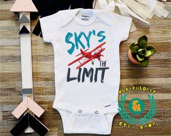 4b4191c5d9e3 Sky s The Limit Baby Onesie