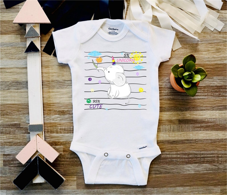 315dcc72c Cute Elephant Baby Onesie Baby Shower Gift Baby Boys