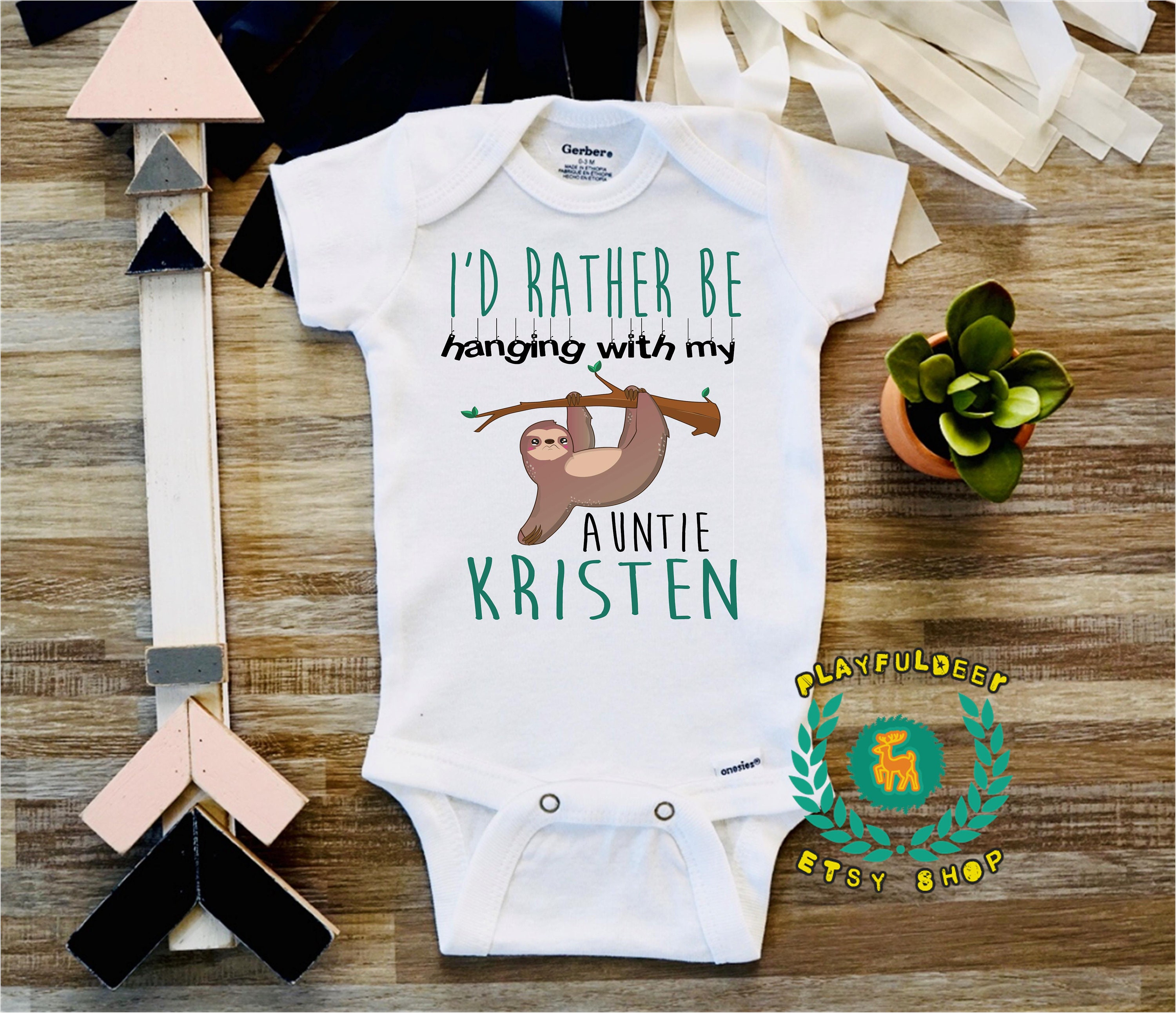I D Rather Be Hanging With My Aunt Funny Baby Sloth Etsy