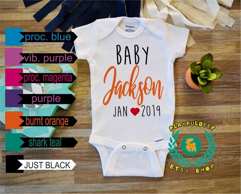 1a0e03ca7 Personalized Baby Onesie Pregnancy Reveal Onesie Pregnancy