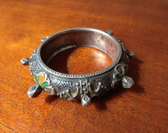 Moroccan old silver berber bracelet, Moroccan Jewelry