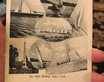 Gorgeous Antique 1907 Postcard of West Okoboji Lake in Iowa