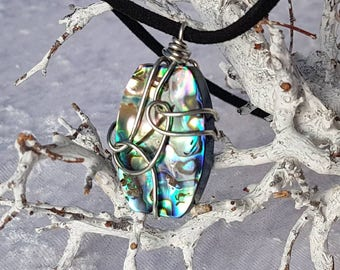 Chain Wire wrapped Paua shell