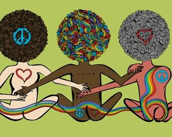 PRIDE. LOVE. BOOTIES.  (Digital Art derived from Original Ink Drawing)
