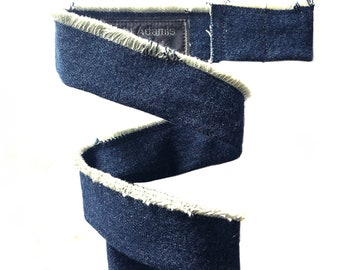 LANYARD NECK STRAP for Face Masks (Upcycled Denim, Vegan Leather, Black w/Silver Rings, Cotton Twill (Free Shipping)